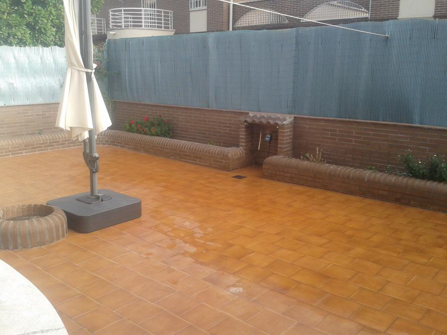Solado de patio exterior - Resultado final